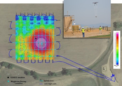 Drone Magnetic Survey to Locate an Abandoned Oil and Gas Well in Colorado.