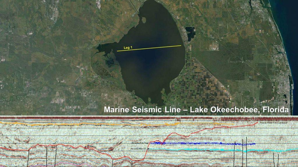 Marine Seismic Line - Lake Okeechobee, Florida